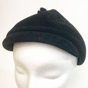 Vintage Black Bibi Beret